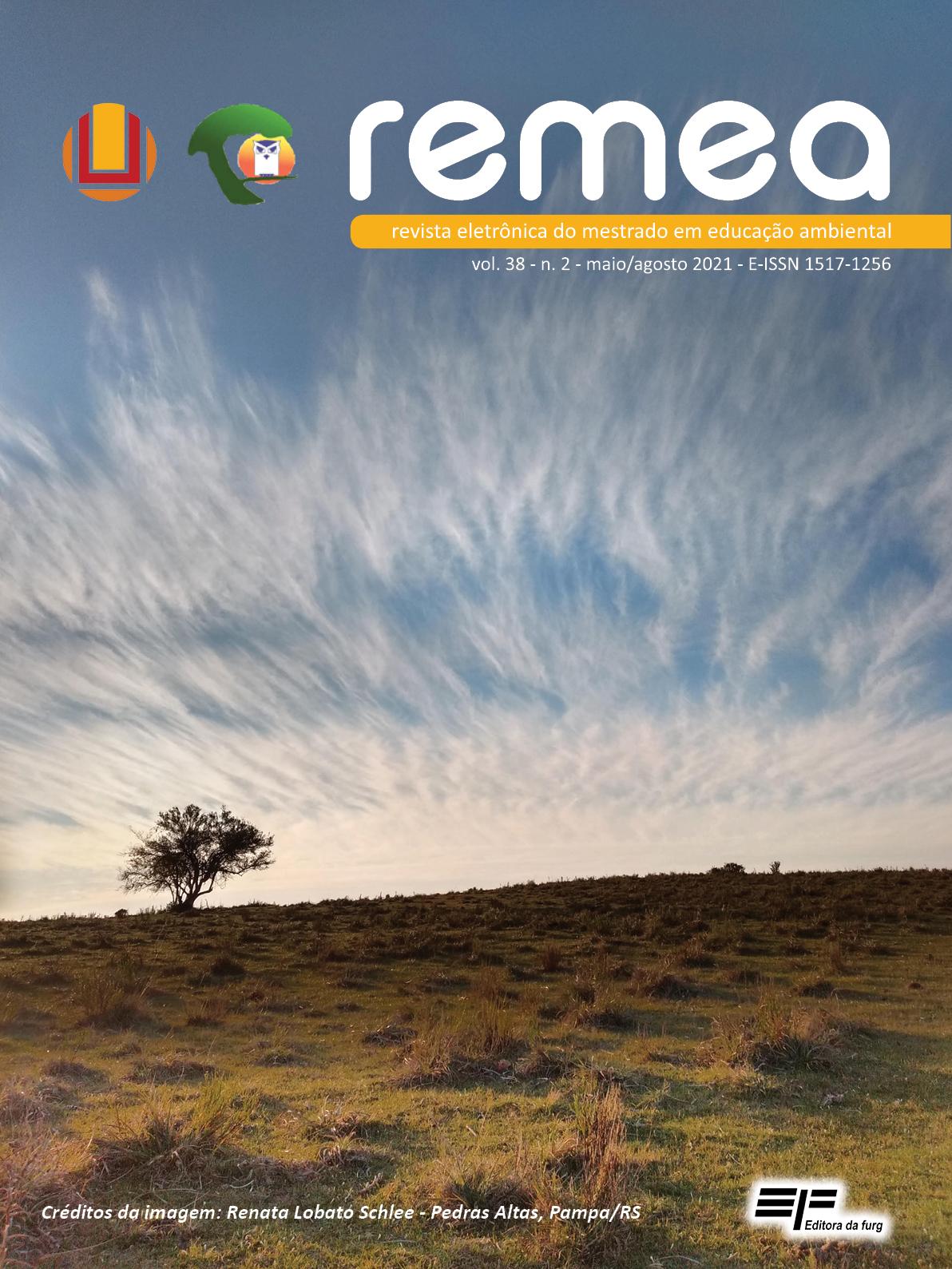 A imagem mostra um campo que apresenta uma única árvore, o céu está azul com nuvens formando desenhos.